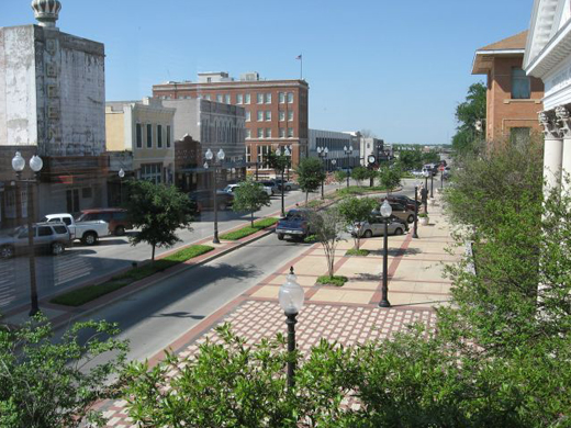 Photo of historic district of Bryan Texas (Main Street Rennovations)