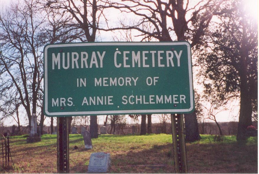 Photo of the Murray Cemetery in Minerva Texas
